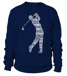 Golf Golfer Calligram