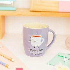 Idéal pour offrir à une jeune maman Pour des petits-déjeuners insolites et gourmands ! Tasse joyeuse et fun  #mugshot #coffee #coffelover #the #tea #mug #mugs #teatime #maman #mum #mummy #bebe #baby #love #birth #naissance #fun #family