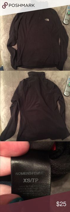Women's northface quarter zip fleece Size XS in good condition. No rips or stains The North Face Tops Sweatshirts & Hoodies