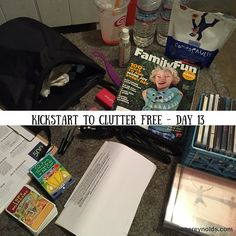 Day 13 of 14 on Kathi Lipp's Kickstart to Clutter Free eCourse challenge to eliminate 500 items from your home