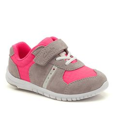 aa6ecddf66a Clarks Pink   Gray Azon Jump Suede Sneaker