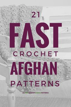 32 Fast Crochet Afghan Patterns Did you know that you can crochet afghans quickly? Believe it or not, yes, there are crochet afghan patterns work up quite quickly. Perfect for last minute gifts! Fast Crochet, Tunisian Crochet, Knit Or Crochet, Crochet Crafts, Crochet Projects, Quick Crochet Blanket, Crochet Blankets, Crochet Ideas, Crochet Tutorials