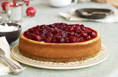 Crazy Good Cinnamon Cranberry Cheesecake