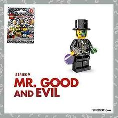 NEW MR. GOOD and EVIL LEGO MINIFIGURE SERIES 9 - SEALED IN BAG - READY TO SHIP! #lego #series9 #minifig #ebay #legominifig