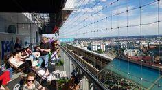 Dachterrasse vom Park Inn im 40sten Stockwerk