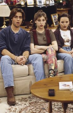 BLOSSOM 'Goodbye' Episode 22 Pictured Joseph Lawrence as Joey Russo Mayim Bialik as Blossom Russo Jenna von O as Six LeMeure