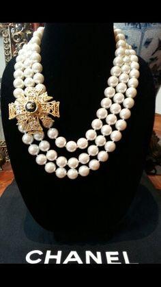 Chanel Button Necklace Vintage repurposed by DesignsbyZ zumphlette@aol. com