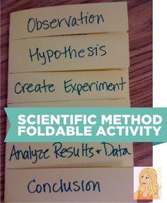 Teach Junkie: 10 Scientific Method Tools to Make Teaching Science Easier - Foldable for the Scientific Method