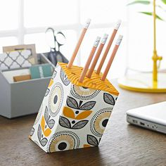 Pencil Block... What a fun, creative, but reasonably simple gift... My favorite kind. Hahaha