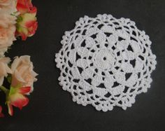 Handmade Crochet Doilies 4 8 Round Mat Pad Home Wedding Decorative Home Wedding, Crochet Doilies, Crochet Earrings, Handmade, Wedding At Home, Doilies Crochet, Craft, Arm Work, Hand Made