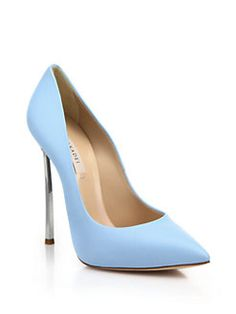 Casadei - Leather Blade-Heel Pumps