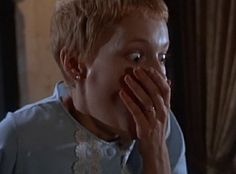 """Rosemary's Baby - When Rosemary realizes who her husband really is, and what he and his """"friends"""" have planned for her baby. This unsettling creepshow from 1968 is Roman Polanski's most """"conventional"""" film  is one of his best telling the slow-burn story of a young New York couple who move into an apartment building home to several Satan worshipers who want to use Rosemary's spawn as a means for Mr. Devil McBrimstone to return to our mortal realm."""