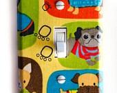 Doggy Puppy Single Toggle Switchplate