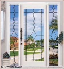 Allure Leaded Glass See Through Static Cling Window Film Adds A Decorative Touch But Allows Visibility Through The Glass. Stained Glass Window Film, Leaded Glass, Window Glass, Frosted Window, Frosted Glass, Sea Glass, Static Cling, Sliding Glass Door, Glass Doors