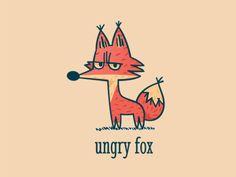 Ungry Fox designed by Manu. Connect with them on Dribbble; Fox Character, Character Design, Fantastic Fox, Fox Logo, Fox Illustration, Fox Art, Kids Logo, Animal Logo, Logo Inspiration