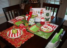 A fun North Pole breakfast to welcome back your elf on the shelf! I'm so doing this!