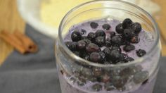 Wild Blueberry Oatmeal Tahini Smoothie - Wild Blueberries