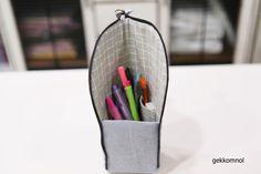 스탠딩 필통 만들기 : 네이버 블로그 Hanging Chair, Diy And Crafts, Quilts, Sewing, Knitting, Storage, Bags, Tutorials, Patterns