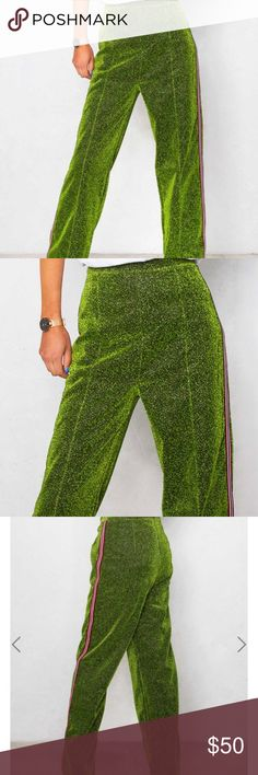 Green pants not from H&M Never been worn size UK 8 but fits size 4-6 USA really nice Pants Track Pants & Joggers