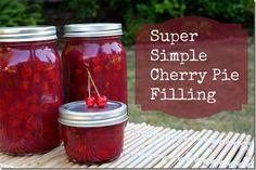 Super Simple Cherry Pie Filling
