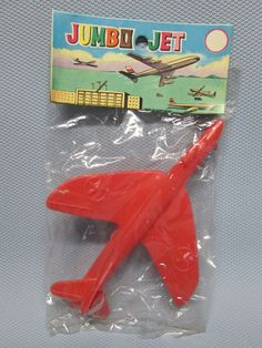 1950's Dime Store Toy Jet Airplane In Original Unopened Package