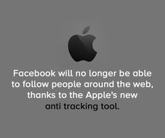 #Facebook will no longer be able to follow people around the #web , thanks to the Apple's new anti tracking tool. #Digitalmarketing #news