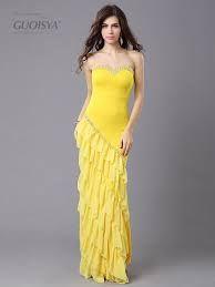 黃色晚禮服圖片 - Google 搜尋
