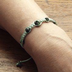 Bright green string bracelet for women, Turquoise bracelet, Summer bracelet, Bracelet for girl