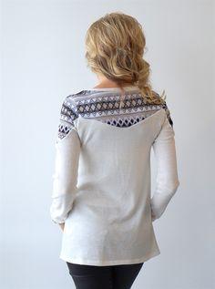 Embroidered Shoulder Sweater
