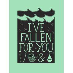 Fallen For You Print by Hazel Nicholls at Soma Gallery, Bristol