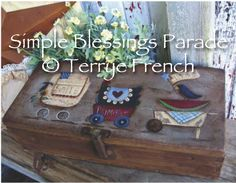Simple Prim Blessings Parade - by Terrye French, E-Pattern by PaintingWithFriends on Etsy