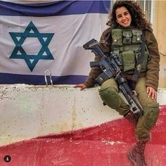 """""Any woman who understands the problems of running a home will be nearer to understanding the problems of running a country. Idf Women, Military Women, Israeli Female Soldiers, Military Police, Badass Women, Plein Air, Madame, Armed Forces, Weapons"