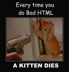 Bad HTML every time a kitten dies