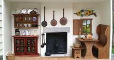 Kitsch....(noun)..tawdry or sentimental art (from German). A very sentimental frame of mind led me to create a cottage kitchen, inspired ...
