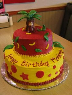 Can you tell I'm looking for cute Curious George cakes?