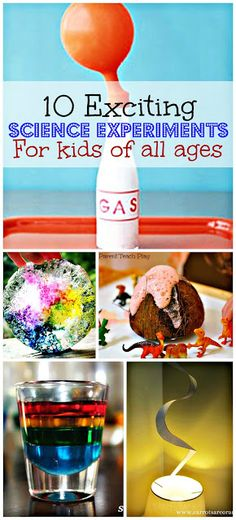 10 exciting science experiments your kids will go crazy for! #kids #school ((I wish that I would have seen this in time to do this summer...but we can squeeze in some time on the weekend :))