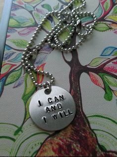ON SALE Handstamped I Can & I Will Necklace by sassyfrassx3