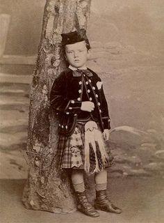 Boy in Scots Dress, 1860-1865
