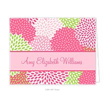 I love the colors! Shop for personalized stationery on sarahbgirls.com