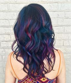 Oil slick hair color More