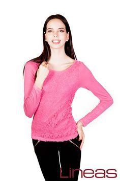 Blusa, Modelo 20031. Precio $160 MXN #Lineas #outfit #moda #tendencias #2014 #ropa #prendas #estilo #primavera #outfit #blusa