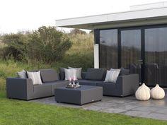 Terrassenmöbel lounge wetterfest  KAWAN XL Lounge Garten Sofa 3-Sitzer Teak Recycled #garten ...