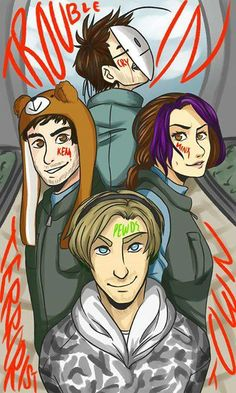 Minx, Ken, Pewds, Cry. They are having to much fun!!