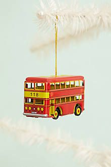 Irish Double Decker BusBlown Glass Ornament  Christmas Ornaments