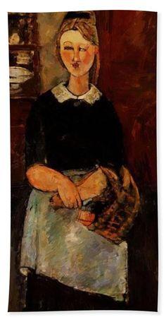 The Pretty Housewife - 1915 Canvas Print / Canvas Art by Modigliani Amedeo Amedeo Modigliani, Modigliani Paintings, Art Paintings, Paul Cezanne, Italian Painters, Italian Artist, Pablo Picasso, Karl Schmidt Rottluff, Claude Monet