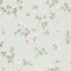 Galerie Wallcoverings Floral L x W Wallpaper Roll Color: Pink/Pale Green Purple Wallpaper Phone, Green Floral Wallpaper, Chic Wallpaper, Rose Wallpaper, Textured Wallpaper, Wallpaper Roll, Wall Wallpaper, Bedroom Wallpaper, Beautiful Wallpaper