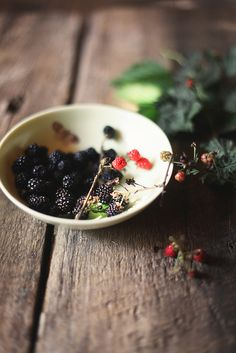 backyard blackberries by hannah * honey & jam, via Flickr