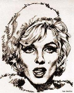 art - Marilyn par Jose Pepe Gonzalez - Divine Marilyn Monroe