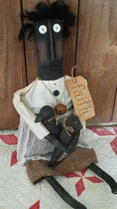 Primitive Rustic Handmade Grungy  Country Black Folk Art Harvest Rd, Bl, G. OOAK #NaivePrimitive #Debbie