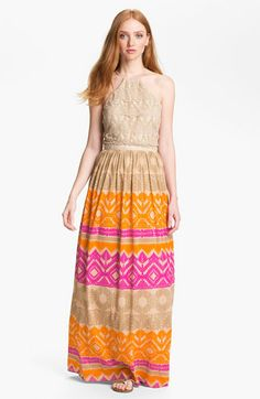 Trina Turk 'Anargosa' Stretch Silk Maxi Dress available at #Nordstrom